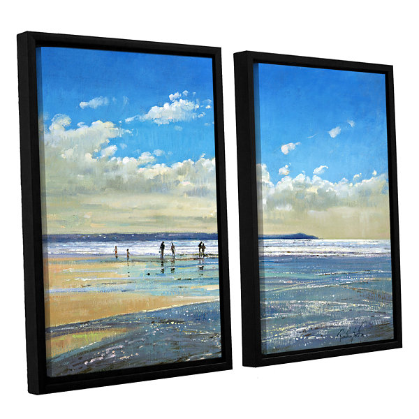 Brushstone Paddling at The Edge 2-pc. Floater Framed Canvas Wall Art
