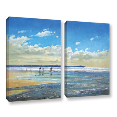 Brushstone Paddling at The Edge 2-pc. Gallery Wrapped Canvas Wall Art
