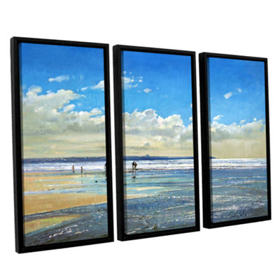 Brushstone Paddling at The Edge 3-pc. Floater Framed Canvas Wall Art