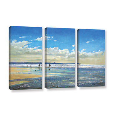 Brushstone Paddling at The Edge 3-pc. Gallery Wrapped Canvas Wall Art