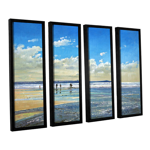 Brushstone Paddling at The Edge 4-pc. Floater Framed Canvas Wall Art