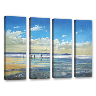 Brushstone Paddling at The Edge 4-pc. Gallery Wrapped Canvas Wall Art