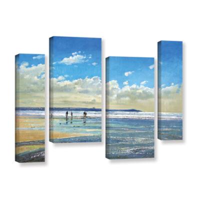 Brushstone Paddling at The Edge 4-pc. Gallery Wrapped Staggered Canvas Wall Art