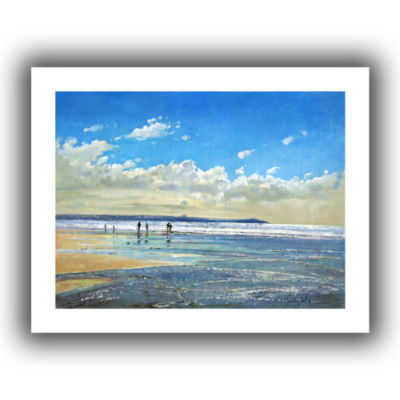 Brushstone Paddling at The Edge Canvas Wall Art