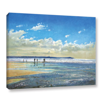 Brushstone Paddling at The Edge Gallery Wrapped Canvas Wall Art