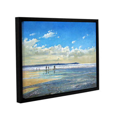 Brushstone Paddling at The Edge Gallery Wrapped Floater-Framed Canvas Wall Art