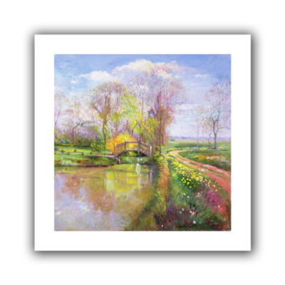 Brushstone Spring Bridge Canvas Wall Art