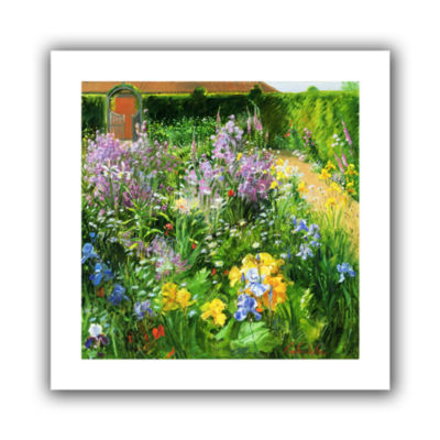 Brushstone Sweet Rocket Foxgloves and Irises Canvas Wall Art