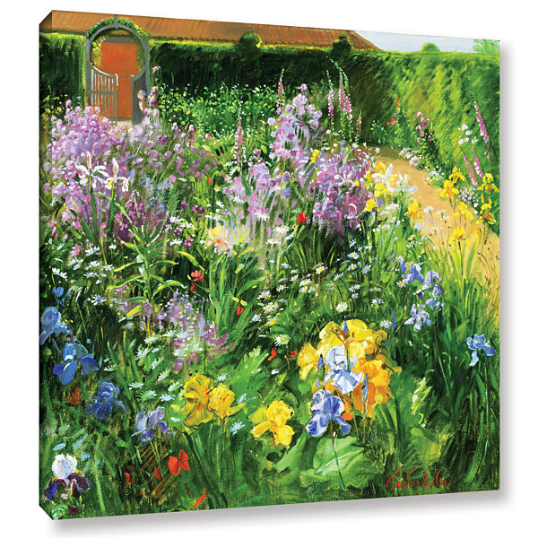 Brushstone Sweet Rocket Foxgloves and Irises Gallery Wrapped Canvas Wall Art