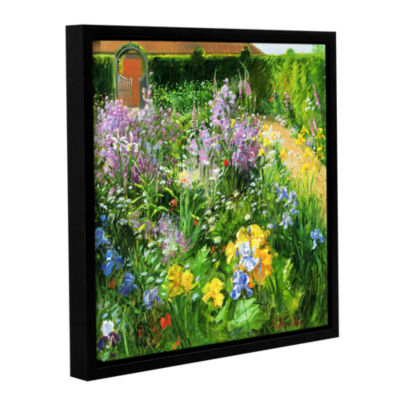 Brushstone Sweet Rocket Foxgloves and Irises Gallery Wrapped Floater-Framed Canvas Wall Art