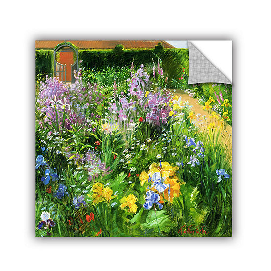 Brushstone Sweet Rocket Foxgloves and Irises Removable Wall Decal
