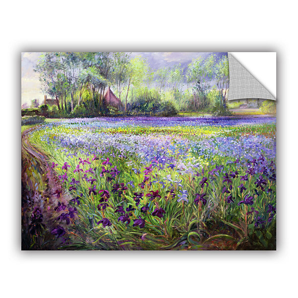 Brushstone Trackway Past The Iris Field RemovableWall Decal