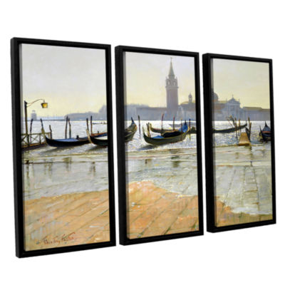Brushstone Venice at Dawn 3-pc. Floater Framed Canvas Wall Art