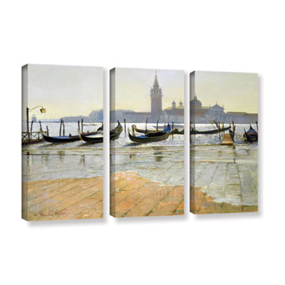 Brushstone Venice at Dawn 3-pc. Gallery Wrapped Canvas Wall Art