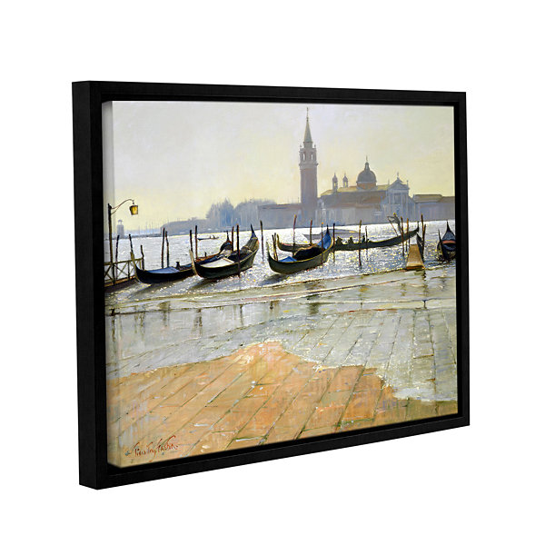 Brushstone Venice at Dawn Gallery Wrapped Floater-Framed Canvas Wall Art
