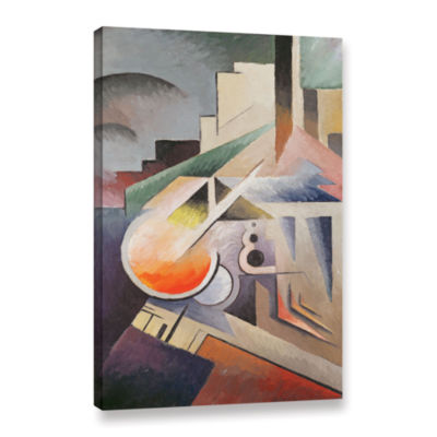 Brushstone Composition Gallery Wrapped Canvas WallArt
