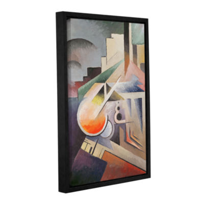 Brushstone Composition Gallery Wrapped Floater-Framed Canvas Wall Art