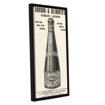 Brushstone Old Ketchup Bottle  1901 Gallery Wrapped Floater-Framed Canvas Wall Art