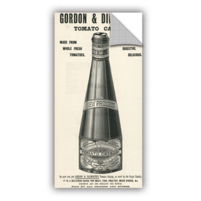 Brushstone Old Ketchup Bottle  1901 Removable WallDecal