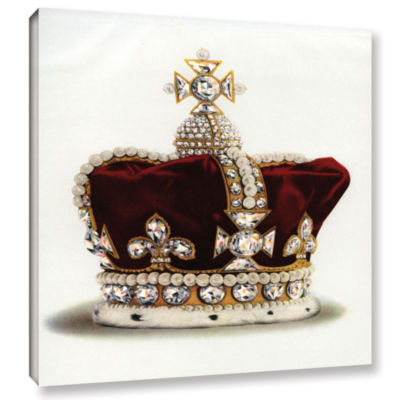 Brushstone The Crown of Queen Mary of Modena fromThe Crown Jewels of England 1919 Gallery Wrapped Canvas Wall Art