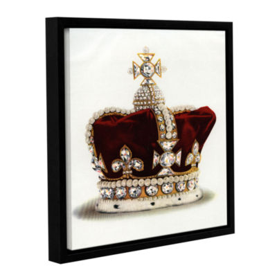 Brushstone The Crown of Queen Mary of Modena fromThe Crown Jewels of England 1919 Gallery Wrapped Floater-Framed Canvas Wall Art