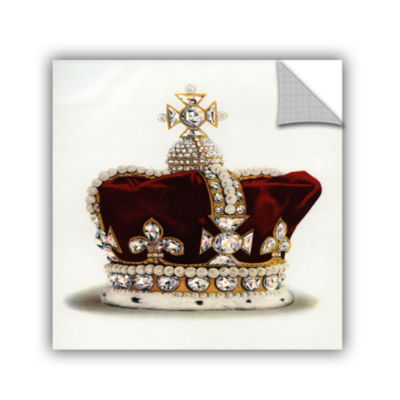 Brushstone The Crown of Queen Mary of Modena fromThe Crown Jewels of England 1919 Removable Wall Decal