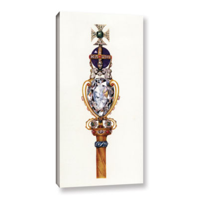 Brushstone The King's Royal Sceptre from The CrownJewels of England 1919 Gallery Wrapped Canvas Wall Art