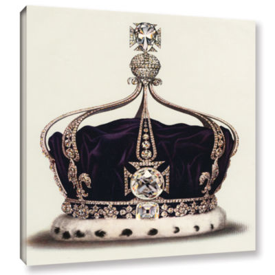 Brushstone The State Crown of Queen Mary from TheCrown Jewels of England 1919 Gallery Wrapped Canvas Wall Art