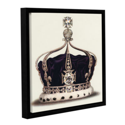 Brushstone The State Crown of Queen Mary from TheCrown Jewels of England 1919 Gallery Wrapped Floater-Framed Canvas Wall Art