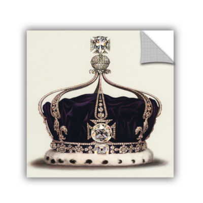 Brushstone The State Crown of Queen Mary from TheCrown Jewels of England 1919 Removable Wall Decal