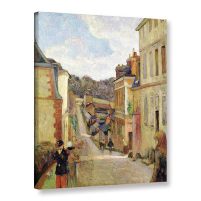 Brushstone A Suburban Street Gallery Wrapped Canvas Wall Art