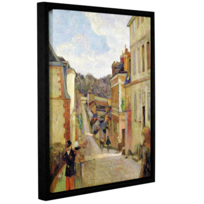 Brushstone A Suburban Street Gallery Wrapped Floater-Framed Canvas Wall Art