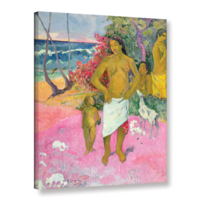 Brushstone A Walk by The Sea Gallery Wrapped Canvas Wall Art