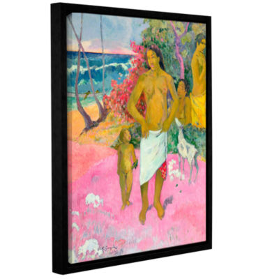 Brushstone A Walk by The Sea Gallery Wrapped Floater-Framed Canvas Wall Art