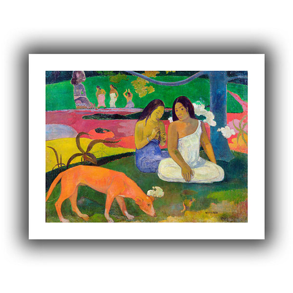 Brushstone Arearea  The Red Dog Canvas Wall Art