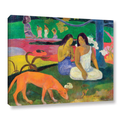 Brushstone Arearea  The Red Dog Gallery Wrapped Canvas Wall Art