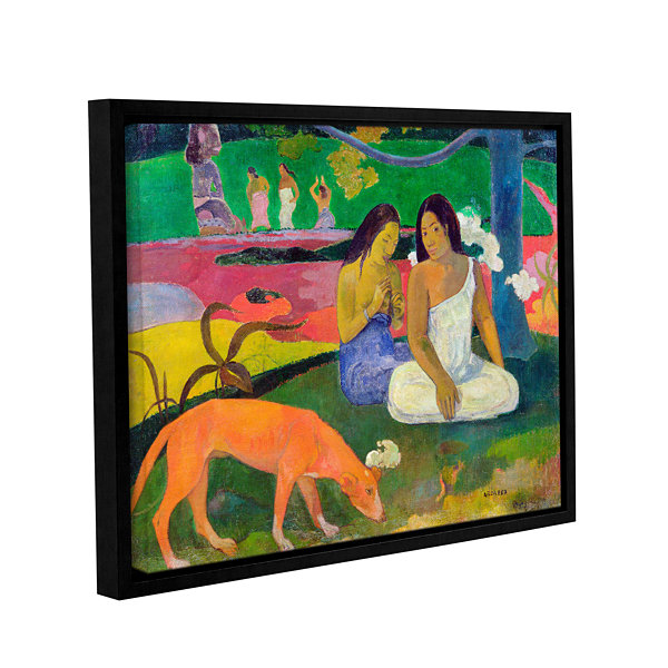 Brushstone Arearea  The Red Dog Gallery Wrapped Floater-Framed Canvas Wall Art