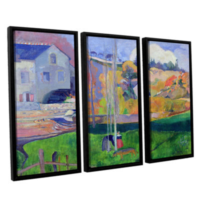 Brushstone Brittany Landscape  The David Mill 3-pc. Floater Framed Canvas Wall Art