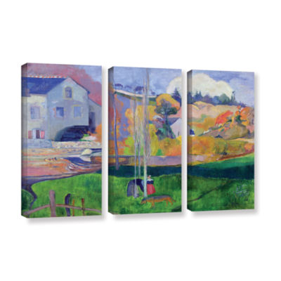 Brushstone Brittany Landscape  The David Mill 3-pc. Gallery Wrapped Canvas Wall Art