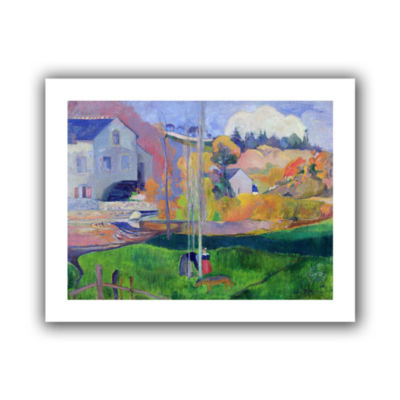 Brushstone Brittany Landscape  The David Mill Canvas Wall Art