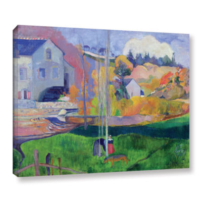 Brushstone Brittany Landscape  The David Mill Gallery Wrapped Canvas Wall Art