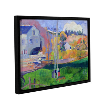 Brushstone Brittany Landscape  The David Mill Gallery Wrapped Floater-Framed Canvas Wall Art