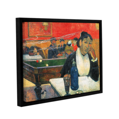 Brushstone Café at Arles Gallery Wrapped Floater-Framed Canvas Wall Art