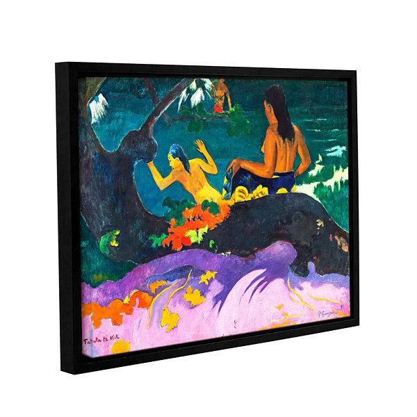 Brushstone Fatata te Miti Gallery Wrapped Floater-Framed Canvas Wall Art