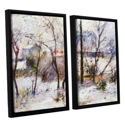 Brushstone Garden Under Snow 2-pc. Floater FramedCanvas Wall Art