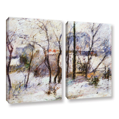 Brushstone Garden Under Snow 2-pc. Gallery WrappedCanvas Wall Art