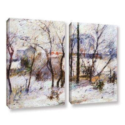 Brushstone Garden Under Snow 2-pc. Gallery WrappedCanvas Wall Art