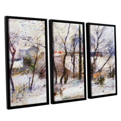 Brushstone Garden Under Snow 3-pc. Floater FramedCanvas Wall Art