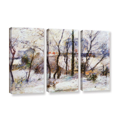 Brushstone Garden Under Snow 3-pc. Gallery WrappedCanvas Wall Art