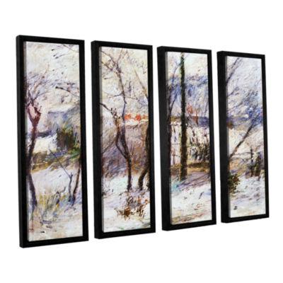 Brushstone Garden Under Snow 4-pc. Floater FramedCanvas Wall Art